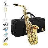 Eastar AS-Ⅲ Comandante Sassofono E Flat Wind Band Saxophone di colore oro