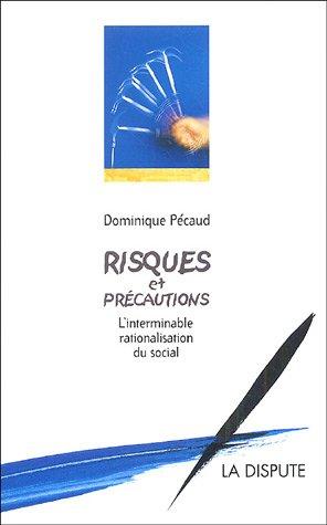 Risques et précautions : L'interminable rationalisation du social par Dominique Pécaud