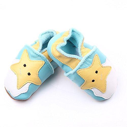 xhorizon TM MLK Soutien-gorge en cuir Unisex Baby Soft Toddler Shoes enfant étoile