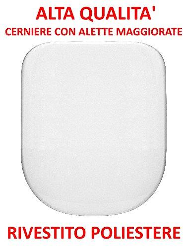 Copriwater sedile wc per dolomite gemma due suite catalano visa bianco coprivaso poliestere alta qualita'