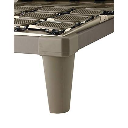 Image of Tempur Dualfüße, Standard Bettfüße für freistehende Flex Systemrahmen, Kunststoff, Cappuccino braun, 19 cm