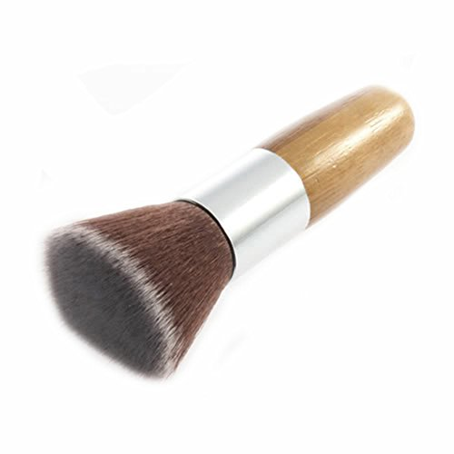 Holz Griff Flat Top Buffer Blush Foundation Puder Pinsel Kosmetik Make-up Werkzeug