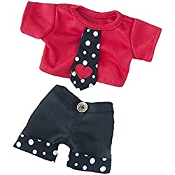 Party heart-y Jungen Teddybär Outfit (20,3 cm)