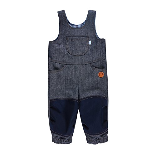 Finkid Kuutio denim jeans navy Kinder Outdoor Jeans Latzhose