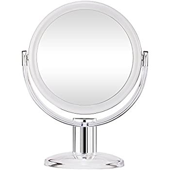 Gotofine Double Sided Tabletop Makeup Mirror 1 X Amp 10 X