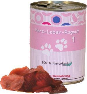 6 x 400 g - Wittis Fleischgerichte für Katze - garantiert OHNE künstliche Vitamine!! Fleisch pur - Herz - Leber - Ragout - Dosenfutter ohne Zusätze