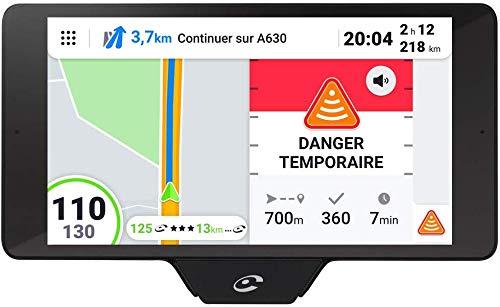 Coyote NAV+ - Assistant d'Aide à la Conduite - GPS Coyote avec Cartographie 3D - Assistant Vocal - Écran Tactile HD - Avertisseur Dépassement Vitesse, Dangers et Trafic - Bluetooth