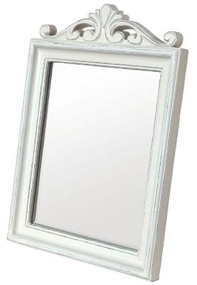 Innova 32 x 44 cm Casa Crown MDF Vintage Mirror, White