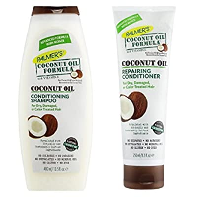 Palmers Coconut Oil Formula Conditioning Shampoo 400ml & Repairing Conditioner 250ml Pack by PALMERS