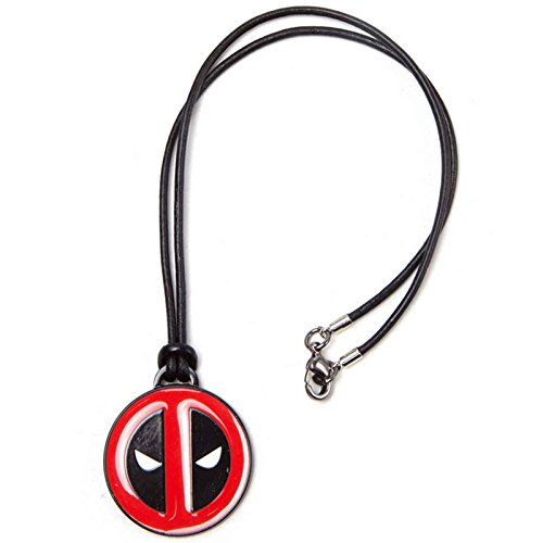 Deadpool Necklace Angry Face Leather Cord Nue offiziell Marvel Face Kids Sweatshirt