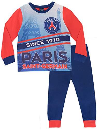 Paris Saint-Germain FC Jungen Football Club Schlafanzug Mehrfarbig 140 - Le Paris Club