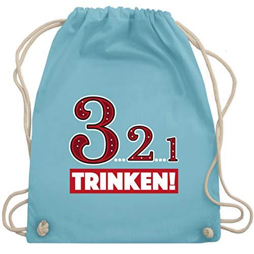 Sprüche - 3.2.1 Trinken! - Unisize - Hellblau - WM110 - Turnbeutel & Gym Bag (Lustige Kostüm Für Gruppen Von 3)
