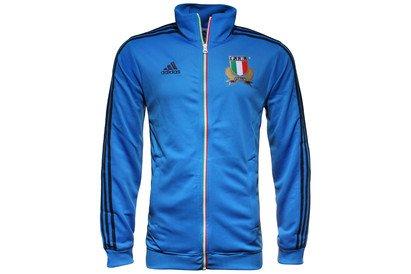 Italien Essential Full Zip Rugby Track Jacket Blau blau (Klassische Slips Gerippte)