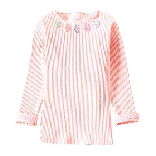 Heligen_Baby Kleidung Tops Kleinkind Kinder Baby Mädchen solide bestickte Rüsche Base Shirt Bluse Kleidung mädchen Outfit Baby Kleidung 6M-5T mädchen