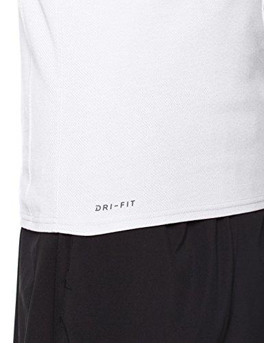 Nike Rise Dri-Fit Tank, Canotta Uomo, White/Black, L
