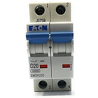 Eaton emdh220–2Pole MCB 20A 10KA Typ D DP Miniaturtrennschalter