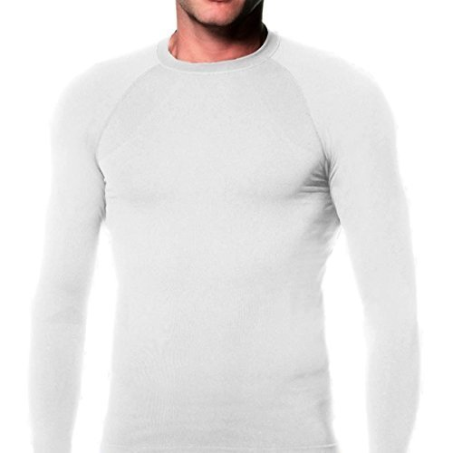 KD Willmax Compression Top Full Sleeve Plain White X Small Athletic Fit Multi Sports Cycling, Cricket, Football, Badminton, Gym, Fitness & Other Outdoor Inner Wear