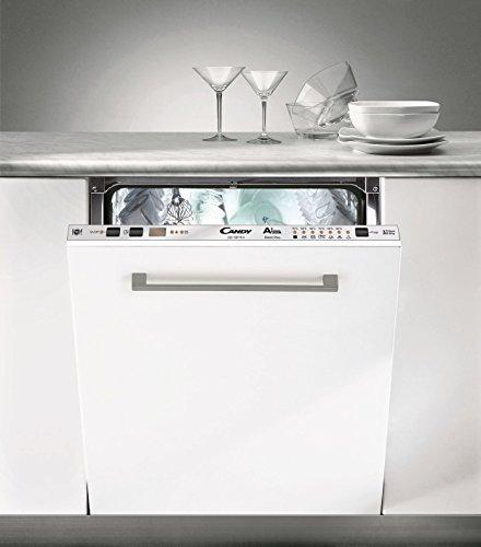 Candy CDI 10P75 X Totalmente integrado 10cubiertos A+ lavavajilla – Lavavajillas (Totalmente integrado, Acero inoxidable, LED, Condensación, 10 cubiertos, 47 dB)