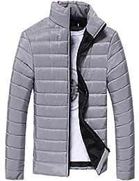 DAZISEN Giacca da Uomo di Spessore - Inverno Cappotto di Cotone Caldo per i  Giovani 5722f598df6