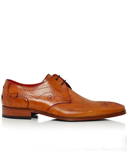 Jeffery-West Hommes Scarface GIBSON Chaussures En Cuir Brun Brun