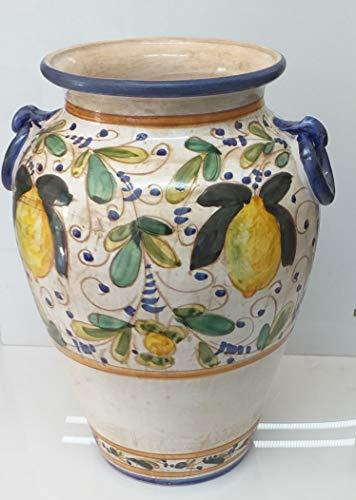 Pagano home portaombrelli porta ombrelli in ceramica decorato a mano made in italy altezza 50 cm. mod limoni