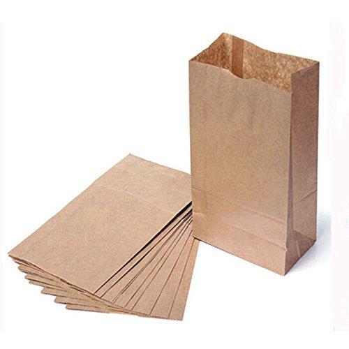 Sabco - Confezione da 30 sacchetti in carta Kraft marrone, resistenti, in 7 misure, ideali per regali, alimenti, feste, Brown, 8 x 4.5 x 15' (10 LB)