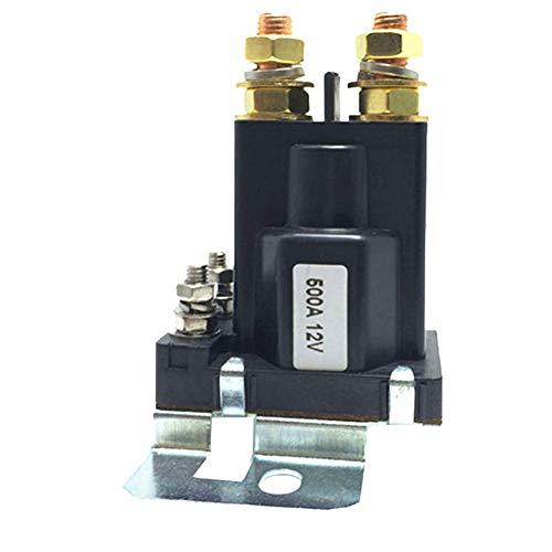 ZqiroLt 500A Wirklich, 4-poliger EIN- / Ausschalter für Doppelbatterien Isolator 12V / 24V DC 500A Schwarz (Lautsprecher-isolatoren)