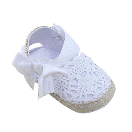 Culater® Estate Infantile Del Bambino Della Principessa Scarpe Primi Camminatori Prewalker arco Sandali Bianco