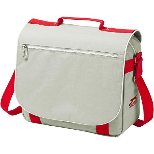 Slazenger - Bolso de hombro modelo York (34.5 x 11.8 x 29.5 cm/Gris/Rojo)