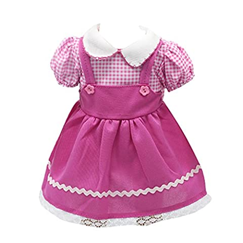 Pink Suspender Skirt Dress Casual Outfit for 18 Inch AG American Girl Dolls