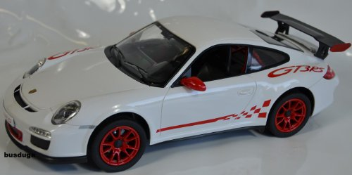 RC Porsche GT3 RS Maßstab.: 1:14 - ferngesteuert mit LED-Licht - komplett Set - Farbe.: weiß - Lizenz-NACHBAU