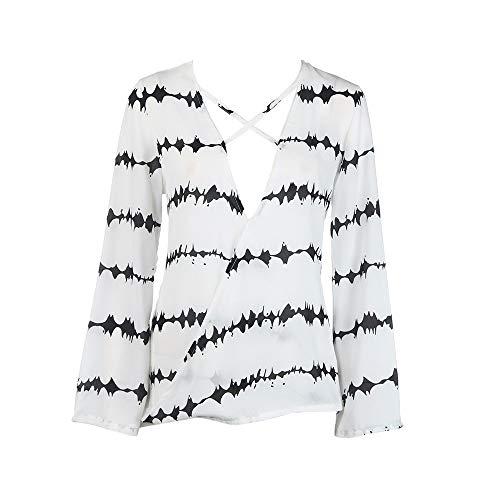 MERICAL T-Shirt à Manches Longues en Vrac à Manches Longues pour Femmes