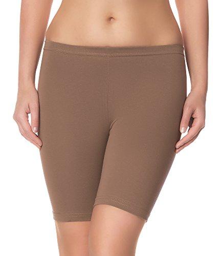 Ladeheid Damen Shorts Long LAMA04 (Beige16, L/XL (Herstellergröße: 40/42))