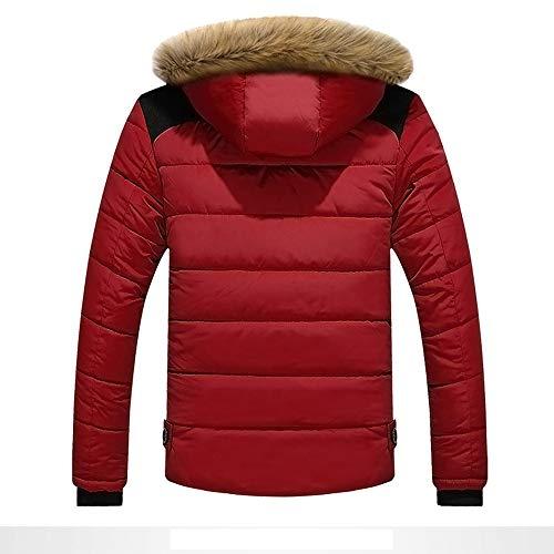 Imagen de bazhahei hombre invierno cazadoras de plumas calor grueso manga larga encapuchado chaquetas acolchado hombre inverno chaqueta acolchada con capucha de pelo espesar cálido para hoombre alternativa