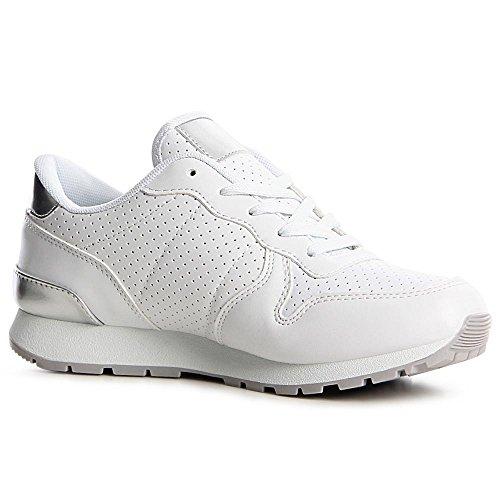Sneaker topschuhe24 argento Bianco topschuhe24 Sneaker donna qqrdvwR