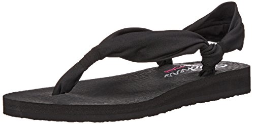 Skechers - Meditation Summer Breeze, Sandali Donna Nero (Nero)