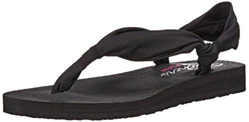 Skechers Meditation Summer Breeze, Sandales Plateforme femme Noir - Noir