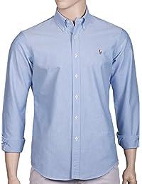 Ralph Lauren - Chemise casual - Avec boutons - Uni - Col Boutonné - Homme