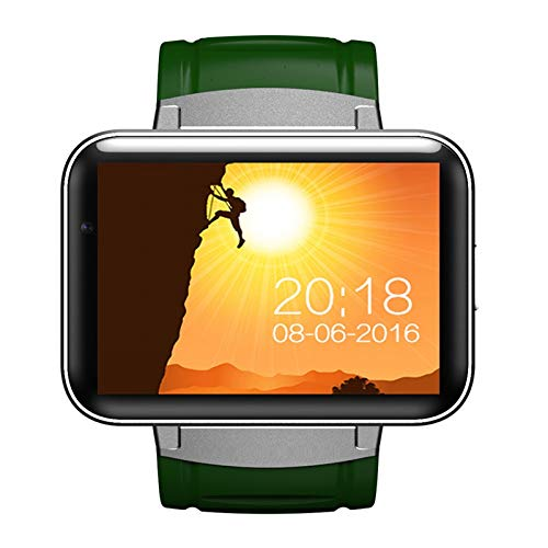 SJUTALR Sport Uhren Neue Smart Watch für Android GPS Tracker/GSM/WCDMA/WiFi Armbanduhr 2,2 Zoll großen Touchscreen Anti-verlorene Bluetooth MP3-Player, grün Gsm-mp3-player
