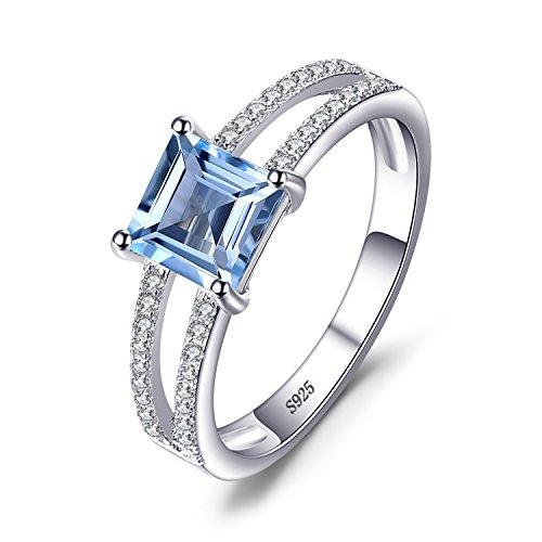 JewelryPalace 1.2ct Genuino Topacio azul cielo Solitario