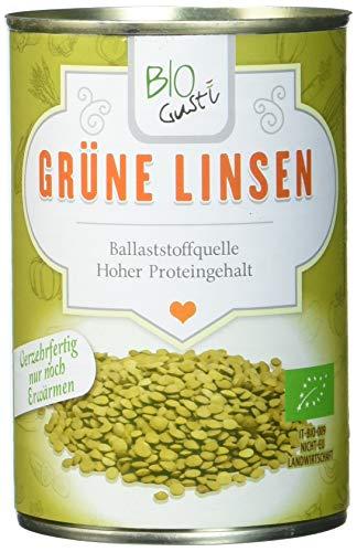 Biogustí Grüne Linsen Bio, 12er Pack (12 x 400 g)