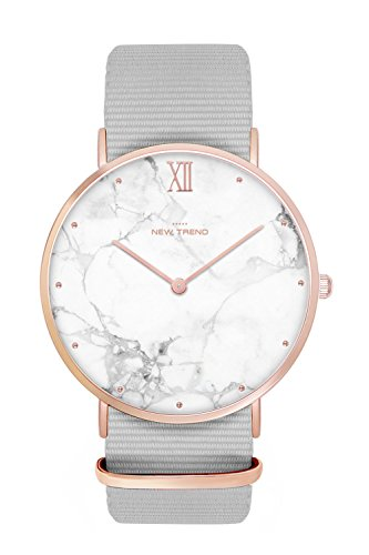 New Trend - Love for Accessories Damen Uhr analog Quarzwerk mit Nylon Armband K5-KGO3-2M3Z