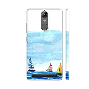 Colorpur Boats Painting Printed Back Case Cover for Lenovo K5 Note