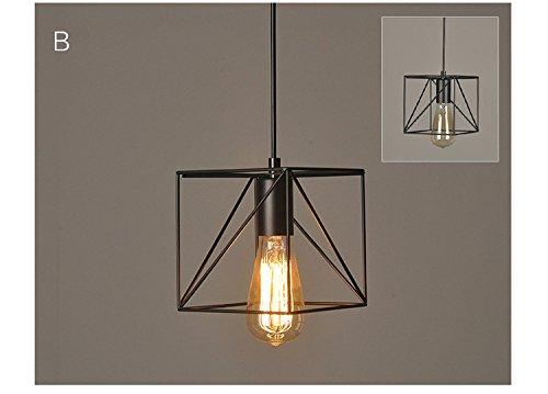 Lampade Da Soffitto Vintage : Vintage industriale edison gabbia di metallo paralume da soffitto