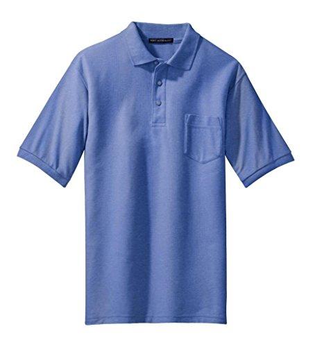 Hafenbehörde Men's hoch mit Silk-Touch-Polo Bleu - Bleu ultramarine