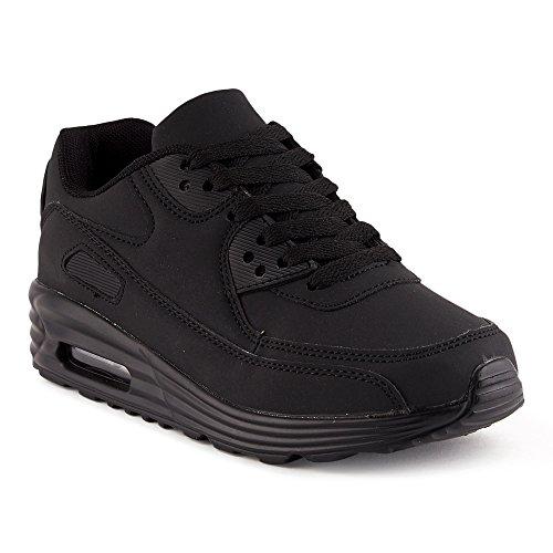 FiveSix Herren Damen Sportschuhe Dämpfung Sneaker Laufschuhe Schwarz-W EU 39 (High Top Jordans Schuhe)
