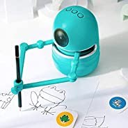 Robot Artist Toy,Educational Drawing Robot Kit with 9 Major Scenes 80 Cards 4 Books USB Rechargeable Intellige