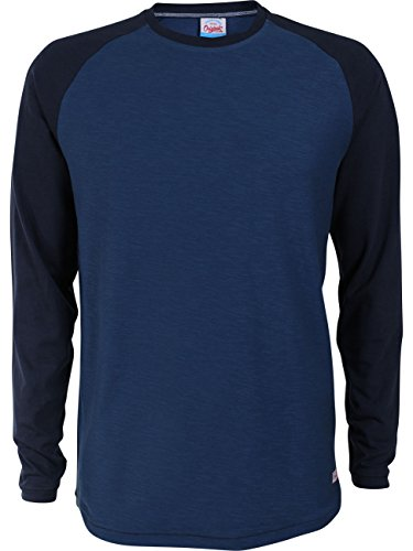 Jack & Jones Herren Langarm-Shirt JORNEW STAN TEE LS CREW NECK 2er Pack Dark Denim (12118523)