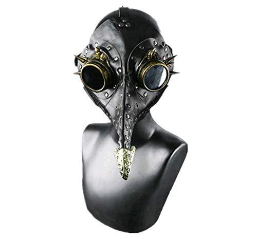 XUELIZHOU Steampunk Punk Halloween Maskerade Plague Vogel Maske