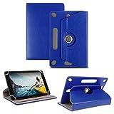 NAUC Tablet Tasche kompatibel für Medion Lifetab E10414 Standfunktion Hülle Tablet Schutztasche Schutzhülle Cover Case 360° universelle Kamera Ausspaarung, Farben:Blau